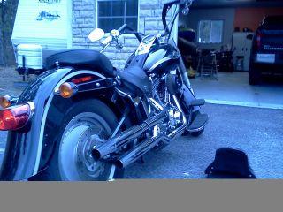 2003 Harley Davidson Fatboy 100th Anniversary,  Black photo