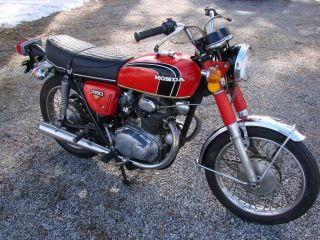 1972 Honda Cb350 Twin Cylinder Motorcycle - Looks & Runs Well - Ride Or Restore photo