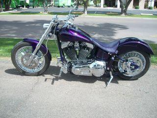 2003 Custom Softail Chopper Evo Engine & Trans Spoke Wheels Build photo