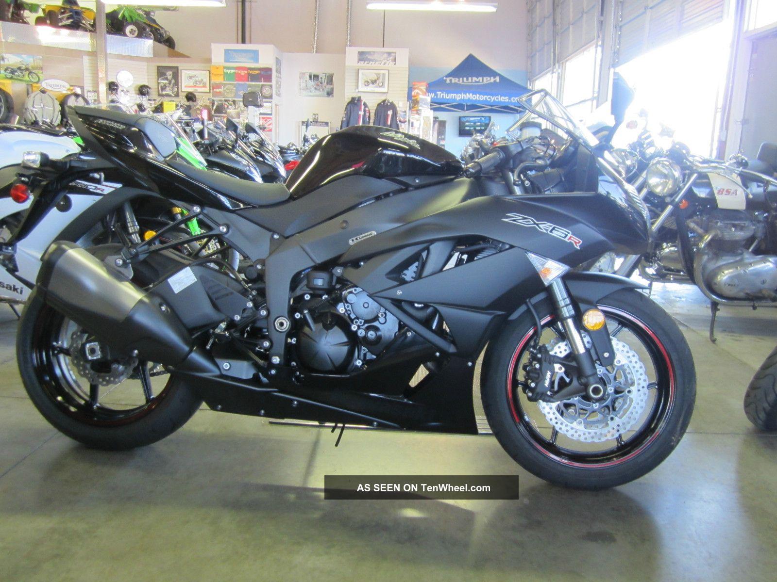 2012 Kawasaki Ninja Zx - 6r In Black Last One Was $10,  299.  00 Now $1.  00 Nr Ninja photo
