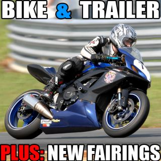 2007 07 Suzuki Gsxr 600 Track Bike & Trailer photo