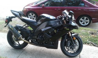 2008 Kawasaki Ninja Zx10r Zx10 Black 1000cc photo
