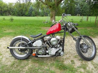 Harley Davidson Custom 1951 Panhead photo