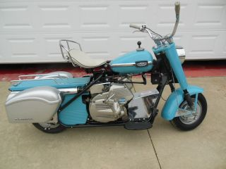 1965 Silver Eagle,  Motorcycle In photo