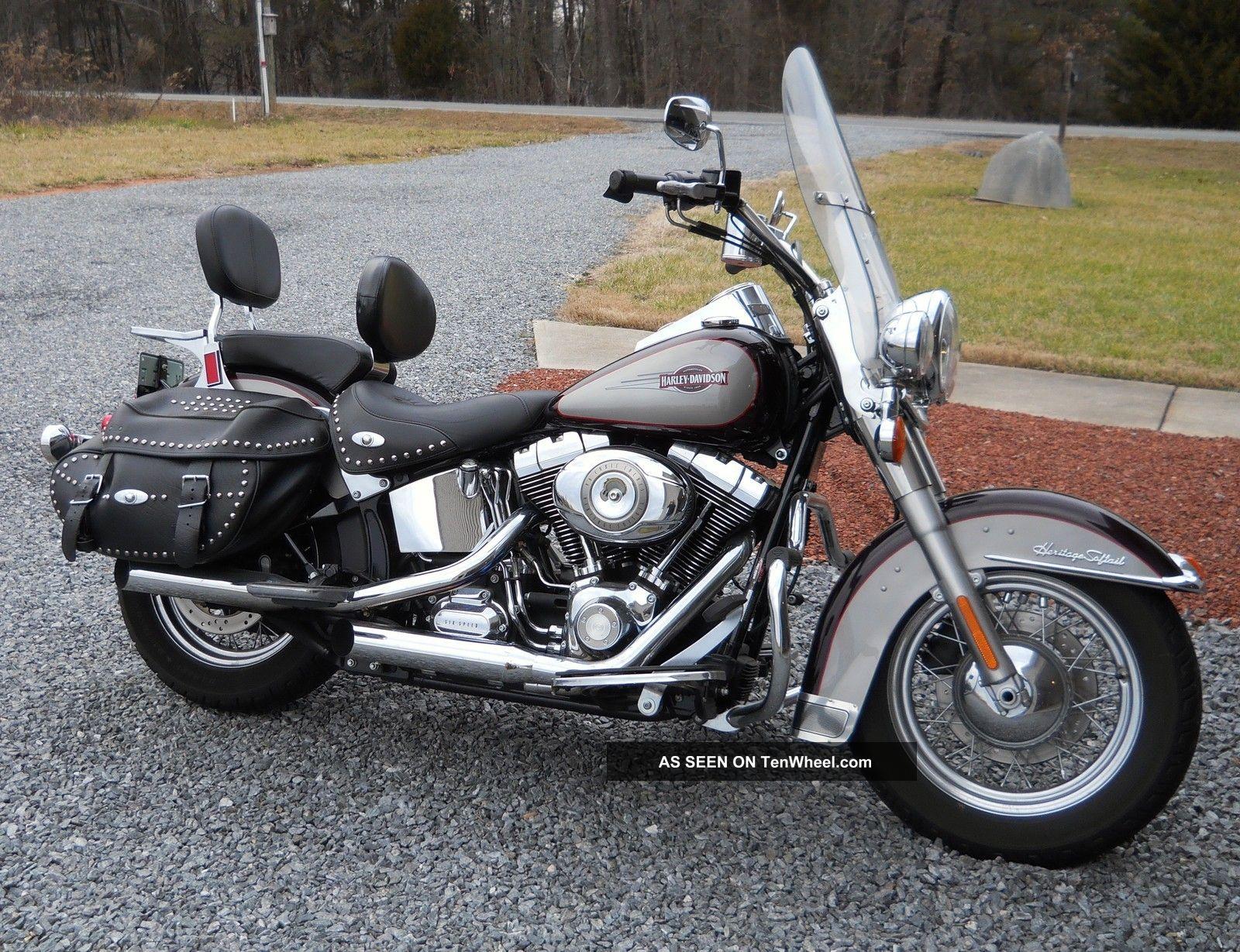 2007 harley davidson motorcycle heritage softail classic cruiser flstc euc. Black Bedroom Furniture Sets. Home Design Ideas