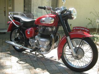 1957 Indian Trailblazer Royal Enfield photo