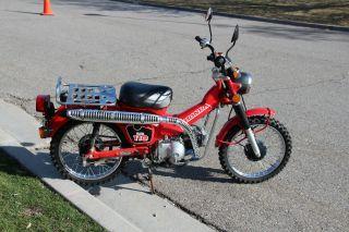 1986 Honda Ct Trail 110,  Hi / Low Transmission photo