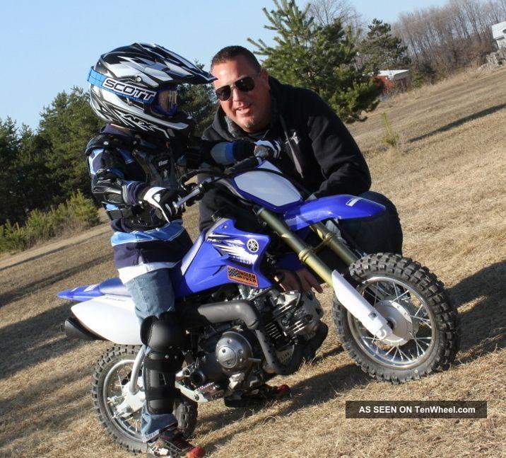 2012 Yamaha Tt - R 50 Dirt Bike Blue / White - Only 2 Times TT photo