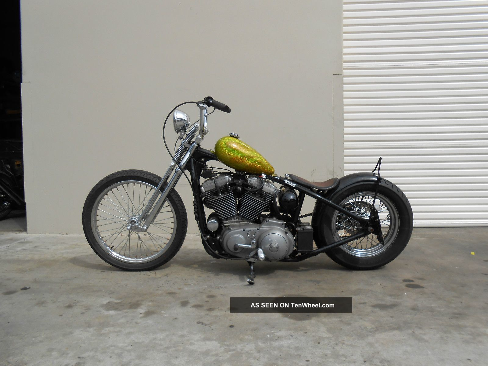 Motorcycles Harley Davidson Other Web Museum 1970 Sportster 1992 Rigid Chopper Bobber Photo