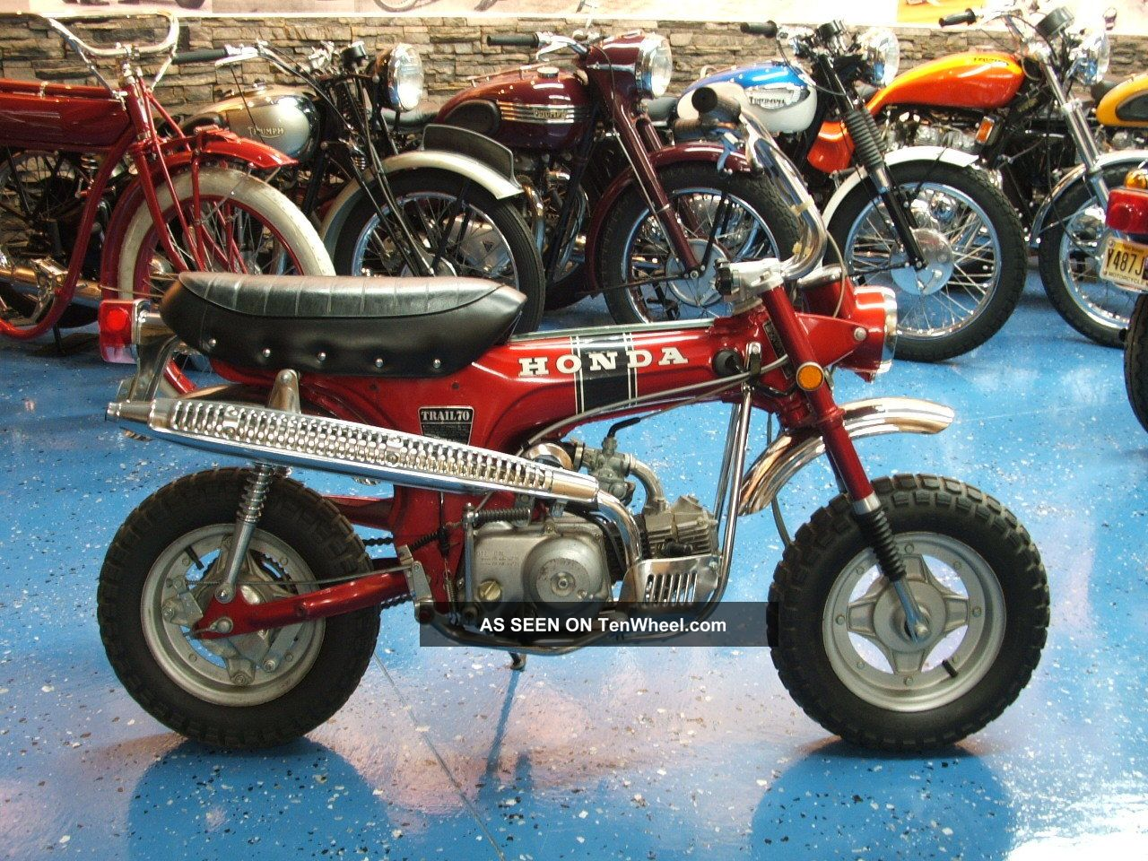 Honda 1970 Ct 70 Mini Trail Ct70 3 Spd Red Bike