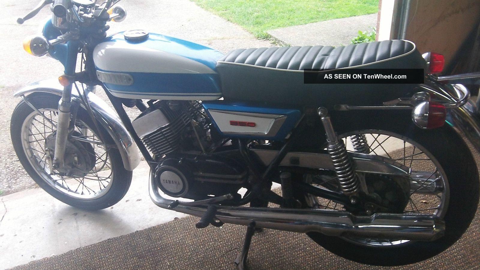 1971 yamaha r5 350 two stroke same bike as suzuki for Yamaha honda kawasaki