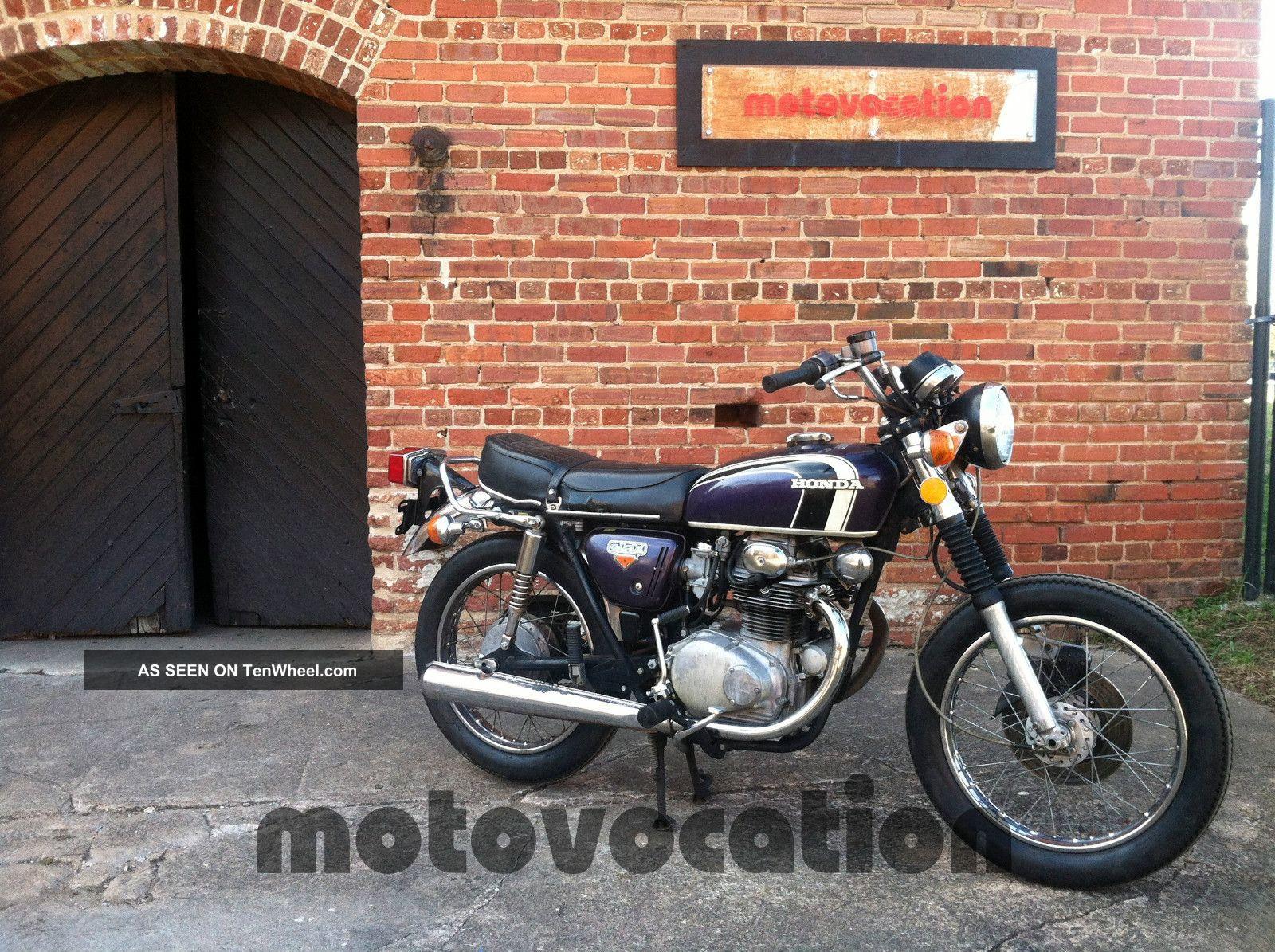 1973 Honda Cb350 Twin Truly A Quot One Kick Quot Bike