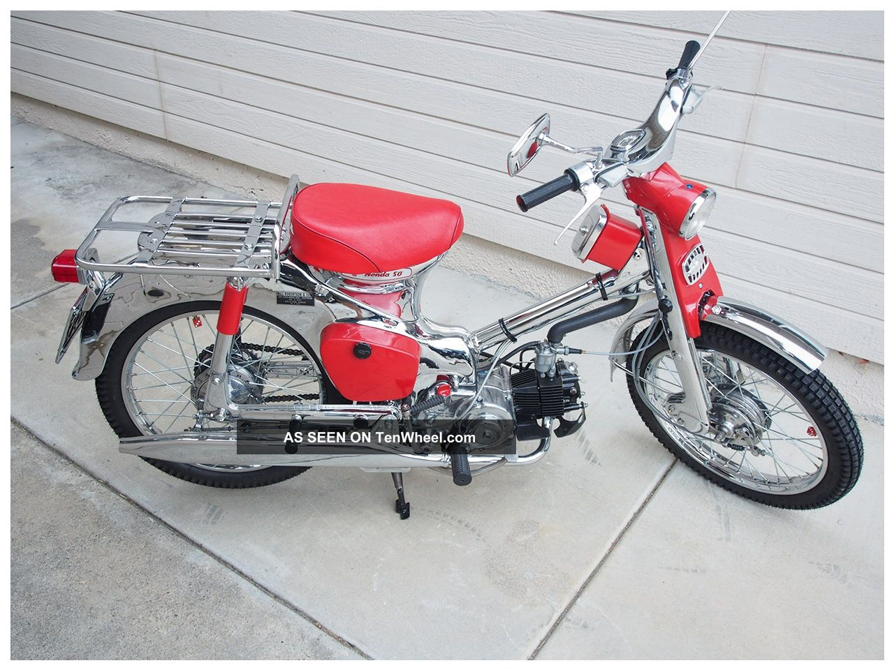 1962 Honda C100 Cub 50 Chrome Promotional Wiring Diagram
