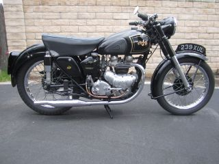 1952 Ajs Model 20. .  Same As Matchless G9. photo