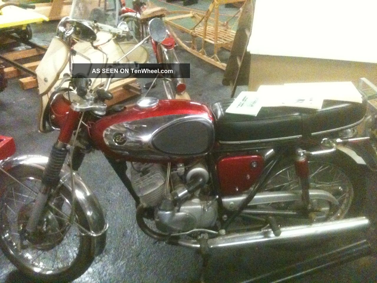 1966 Bridgestone 175 Dual Twin Motorcycle,  In Very,  Inside Stored Other Makes photo