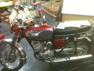 1966 Bridgestone 175 Dual Twin Motorcycle,  In Very,  Inside Stored photo