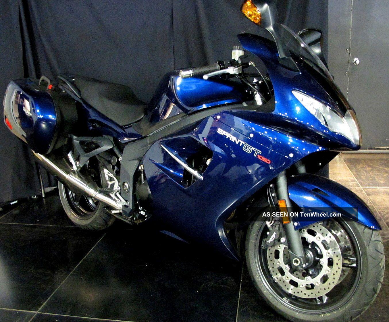 2011 Triumph Sprint Gt 1050 Triple Pacific Blue