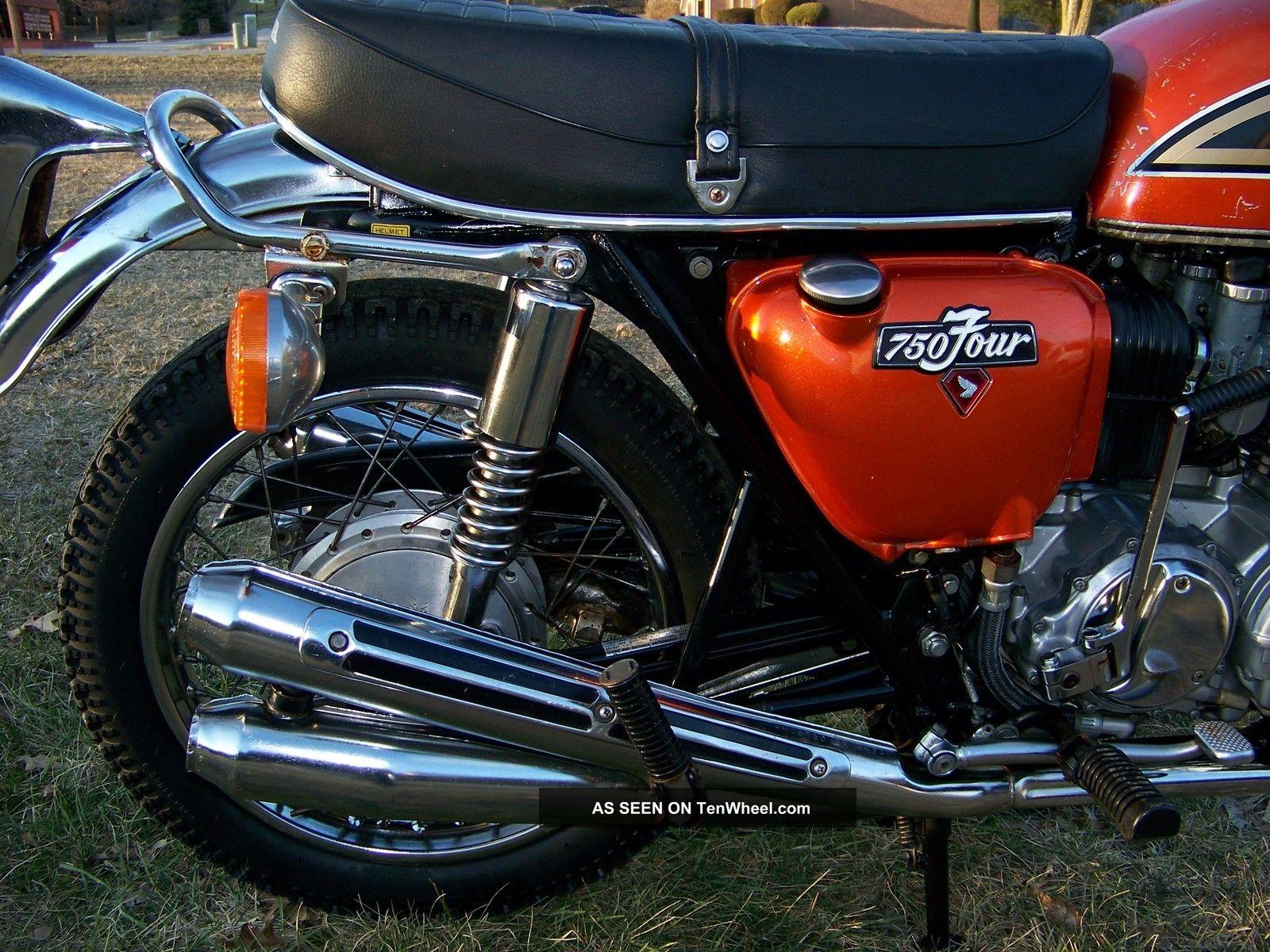 1975 honda cb 750 flake sunrise orange vintage cb750 4 publicscrutiny Choice Image