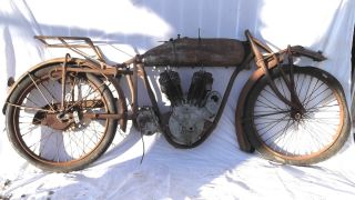 1917 Antique Indian Powerplus Motorcycle Rolling Basket Hendee Chief Hedstrom photo