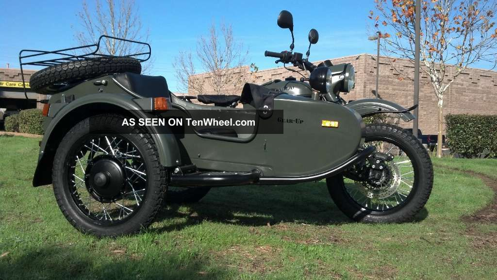 2012 Ural Gear - Up Motorcycle With Sidecar In Forest Fog.