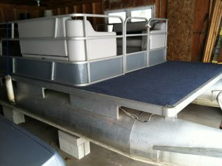 1977 Sylvan Pontoon Boat & Evinrude 25 Hp Motor photo