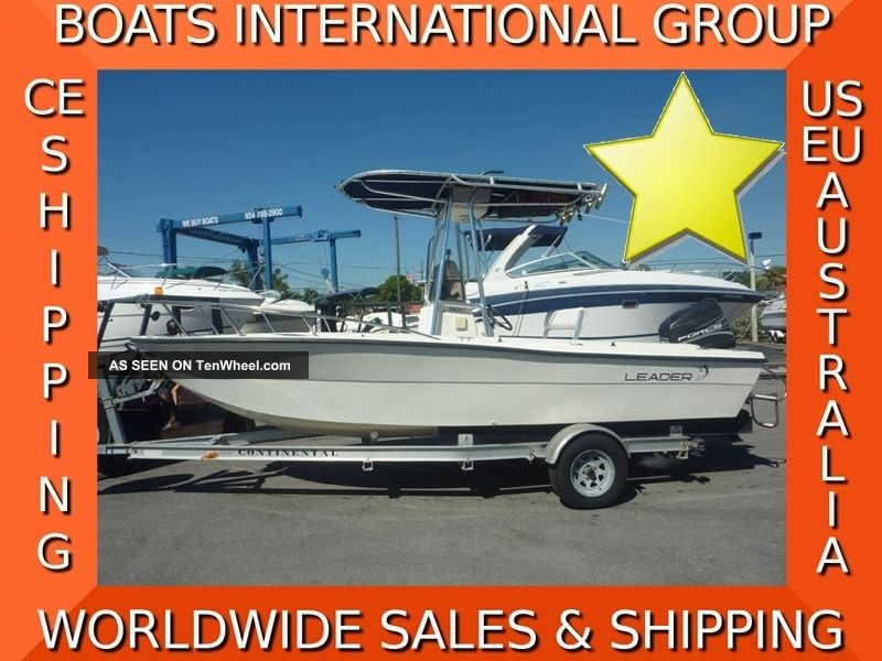 1999 Leader 190 Cc Center Console Offshore Saltwater Fishing photo