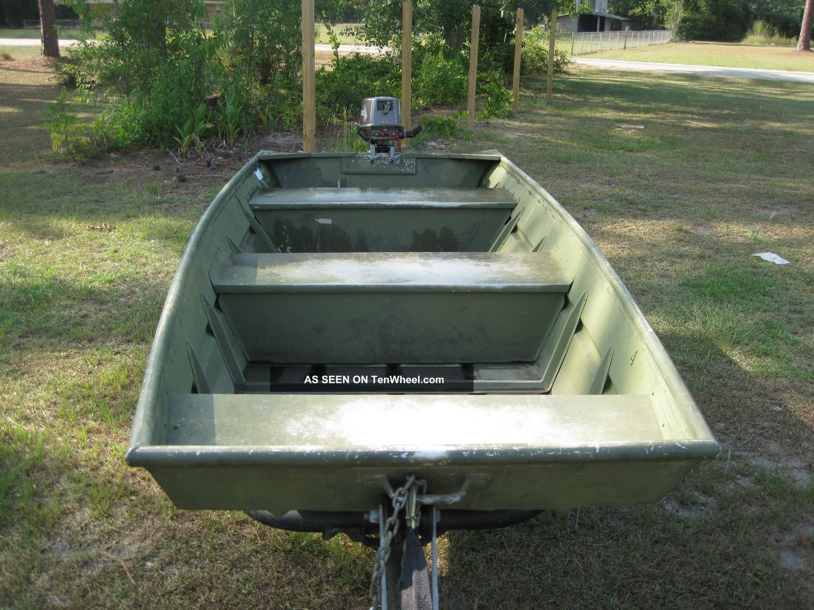 1994 Alumacraft Jon Boat Model 1236 Trailer 5 Hp Motor