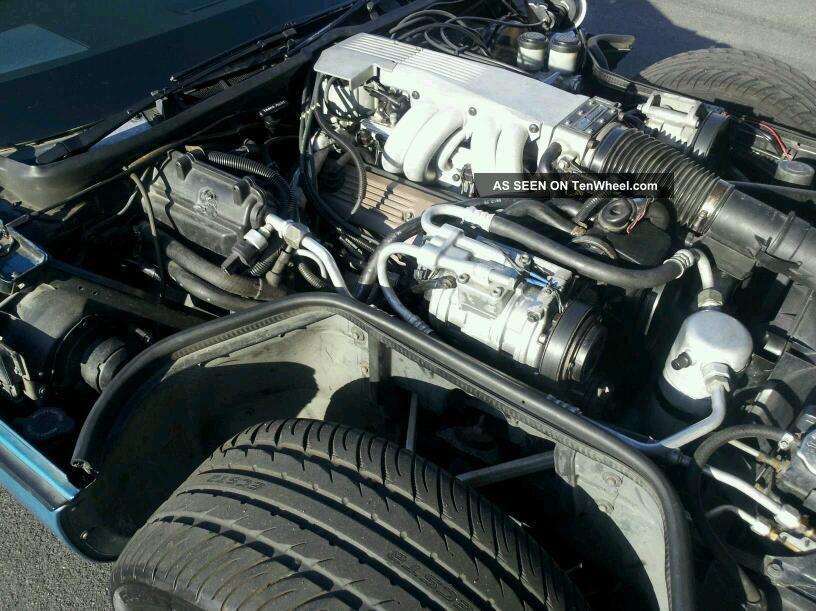1989 Chevrolet Corvette Coupe Engine Targa Top C4 Automatic