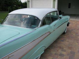 1957 Chevy Belair 2 Door Hardtop Surf Green Rust photo