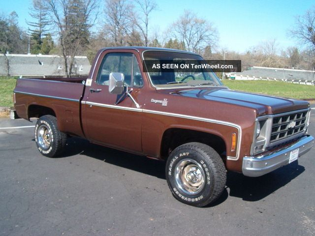 1979 chevy short bed 4x4 only 2 owners 350 v8 4spd a c rust