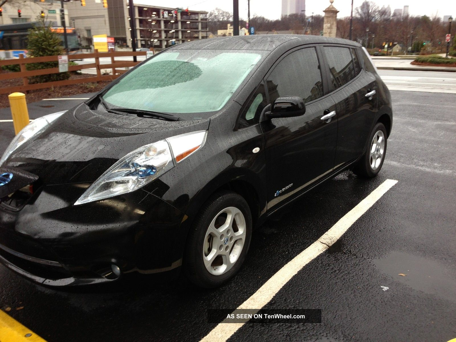 2012 Nissan Leaf Sl Black Electric Plug In 4 Door