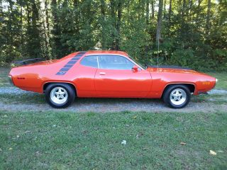 1971 Plymouth Road Runner 2d Orange 440 photo