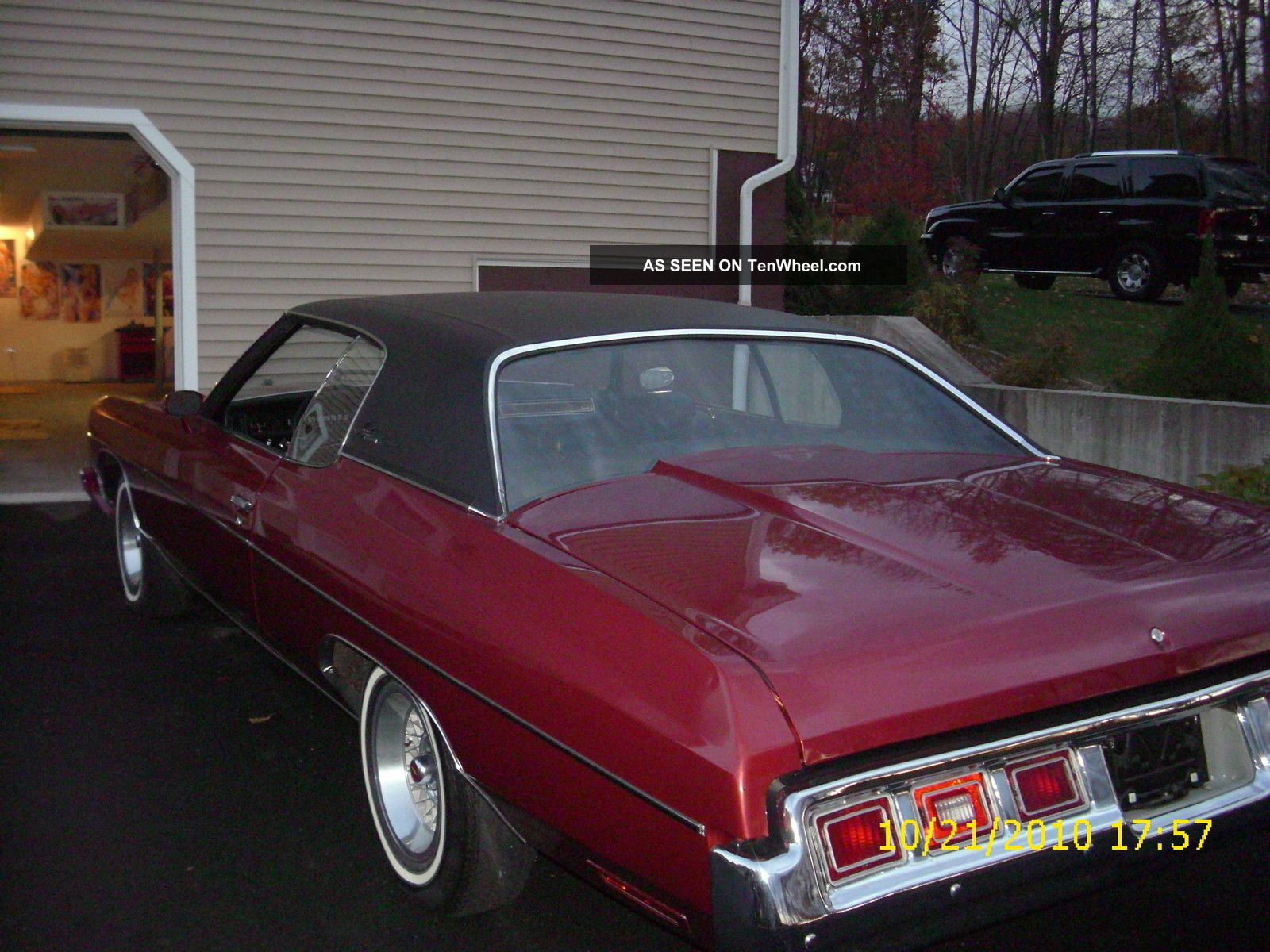 1973 Chevy Impala Custom Burgundy With Black Vinyl Roof