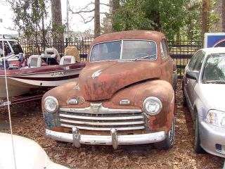 1946 Ford Coupe Flathead V8 Barn Find Project Car photo