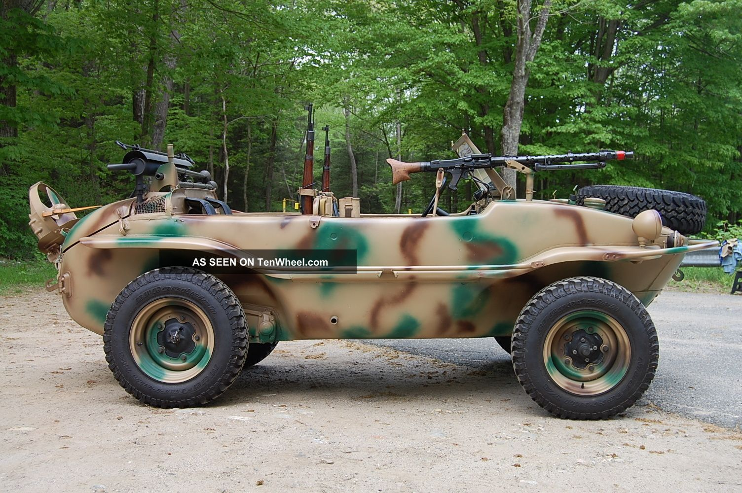 1943 Vw Schwimmwagen German Military Amphibious Vehicle Totally Type166