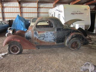 1936 Ford 3 Window Coupe 3w Hot Rod Rat Scta photo