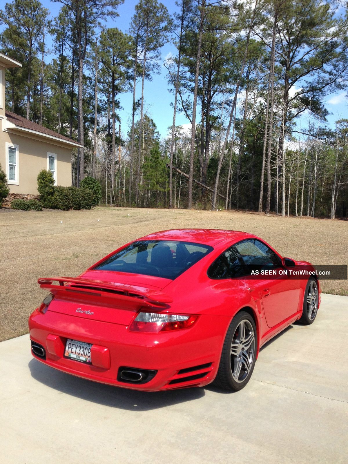 2007 porsche 911 turbo coupe guards red automatic tiptronic. Black Bedroom Furniture Sets. Home Design Ideas