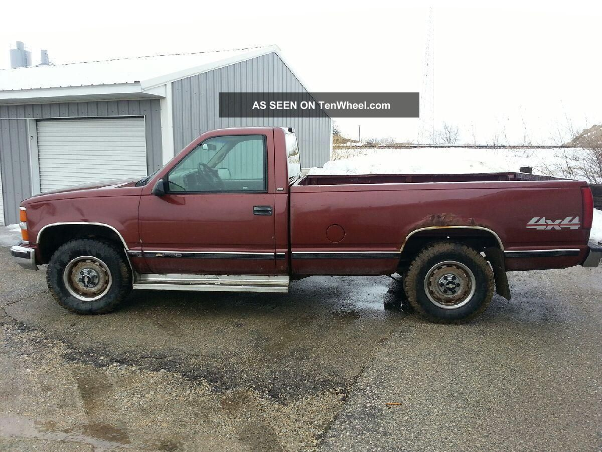 1998 Chevrolet K1500 Cheyenne Standard Cab Pickup 2 - Door 4. 3l Great Tires