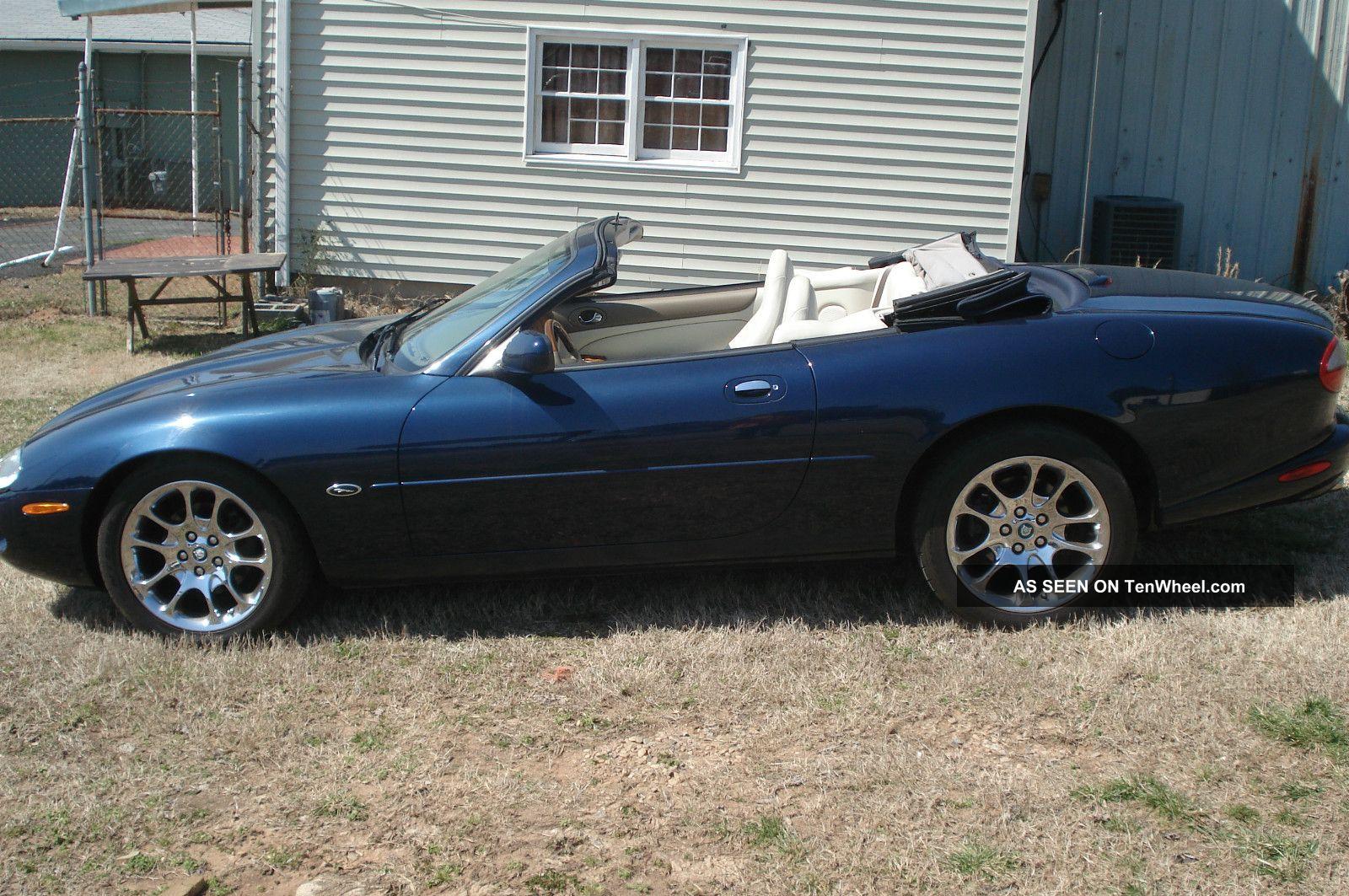 1999 jaguar xk8 convertible 2 door 4 0l blue no mechanical issues. Black Bedroom Furniture Sets. Home Design Ideas