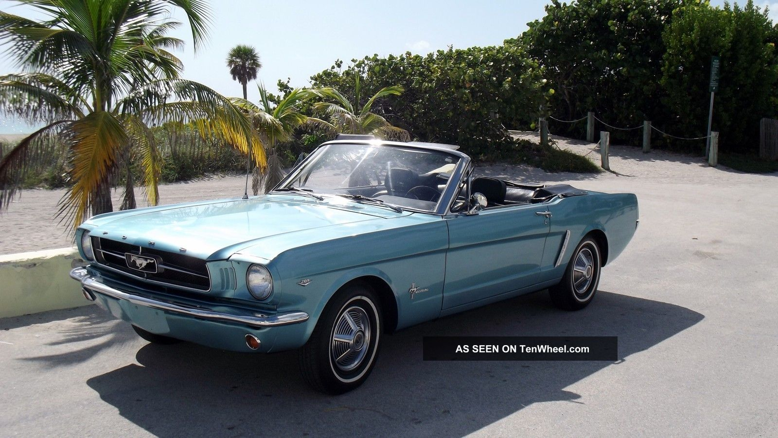 1964 1 2 Ford Mustang Convertible Turquoise Metallic With Black Fastback Interior V8