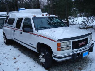 1997 Gmc 3500 Dually Crew Cab Turbo Diesel Southern Truck Never No Rust photo