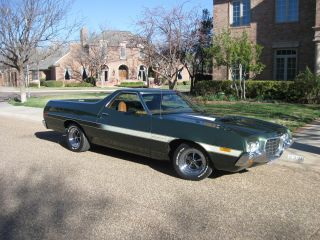 Beautifully 1972 Ranchero Gt,  Factory Dark Green Metalic. photo
