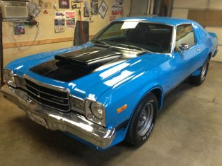 1977 Plymouth Volare Roadrunner 4 Speed Pak Petty Blue Lr photo