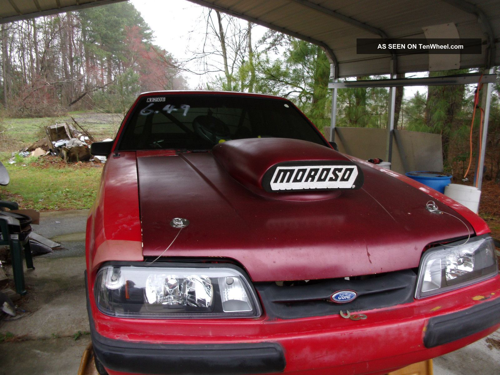 1990 Ford Mustang Coupe - Drag Car - Rolling Chassis Mustang photo