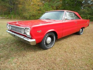1966 Plymouth Satellite 383 4 Speed 2 Dr Bucket Seats Console photo