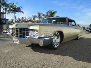 1969 Cadillac Coupe Deville Rat Rod Hot Rod Patina Classic Caddy No Rust photo