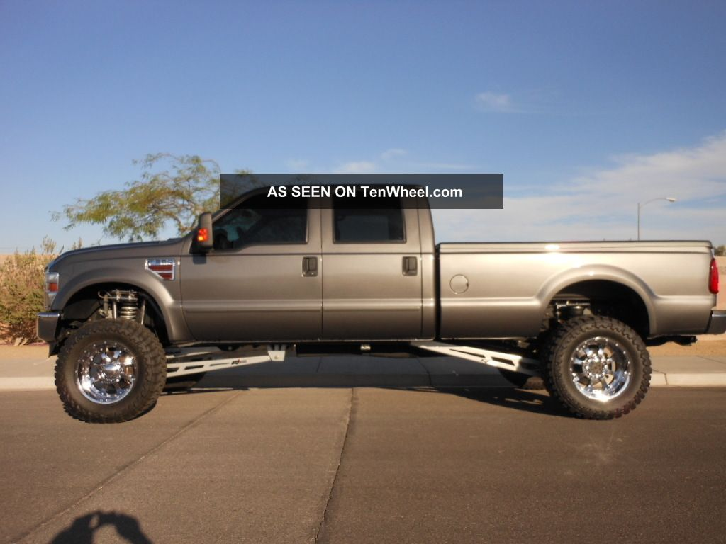 custom 2008 ford f 350 duty crew cab long bed 6 4 diesel 4x4 automatic. Black Bedroom Furniture Sets. Home Design Ideas