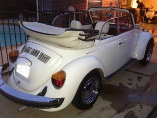 Rare 1978 Triple White Volkswagon Beetle Convertible photo