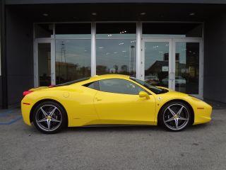 2011 Ferrari 458 Italia Yellow / Black Huge Msrp Carbon Fiber Loaded photo