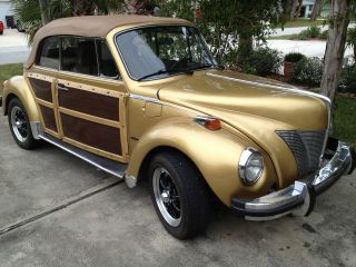 1974 Volkswagen Convertible ' 30 ' S Ford Front Woody Sides By Jc Whitney Rare photo